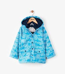 655ad7385 New SS18 Boys Hatley Shark Alley Blue Raincoat Mac Jacket Age 4 5 6 ...