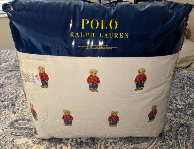 Ralph Lauren Polo Girl Teddy Bear Full, Polo Bear Bedding Queen