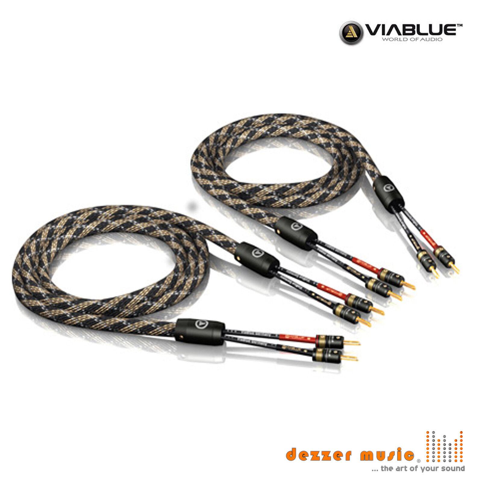 ViaBlue 2x 15,00m SC-2 Single Wire T6s Banana HIGH END ...