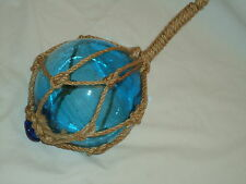 GlassTurquoise Fishing Boat Net Float Buoy Blown Glass Ball - Bathroom Garden