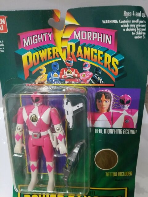 """Bandai Mighty Morphin Power Rangers 8"""" Pink Ranger Action Figure Vintage New"""