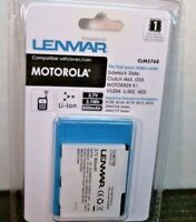 Lenmar Clm768 Li-ion 3.7v Cell Phone Battery, Compatible W/motorola, Free Ship