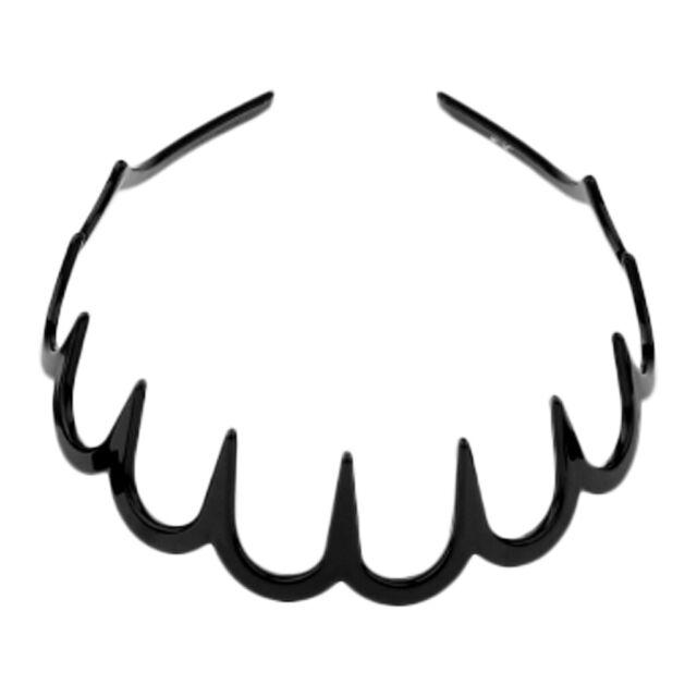 2 Stück Mädchen Damen Zig Kunststoff Haarband Kamm Reifen mit tiefen Zähnen