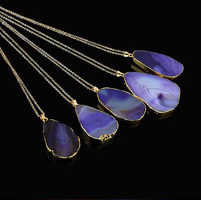 Necklace Pendant Crystal Quartz Polished Natural Healing Point Chakra Gemstone