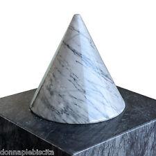 Scultura Cono in Marmo Bianco Carrara Sculpture Truncated Cone Marble 20x20cm