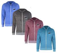 Firetrap New Men's Full Zip Hooded Sweatshirt Fleece Hoodie Slim Fit Terront Top