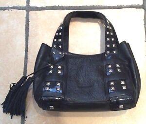 borla negro Millen estado con excelente mano de cuero bolso de Karen peque Bolso o FqXfXw