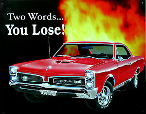Clasico-PONTIAC-GTO-Decoracion-Poster-70s-us-car-automocion-musclecar-Signo-De