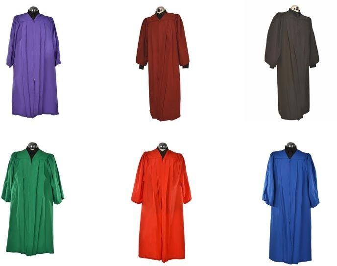 Juego de 10 Coro Batas   Vestidos Mujer Hombre Sacerdote Coral Iglesia