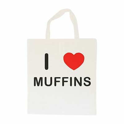I Love Muffins - Cotton Bag | Size choice Tote, Shopper or Sling