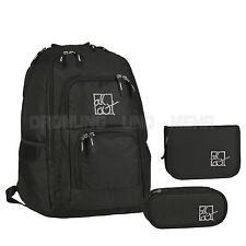 Schulrucksack Set schwarz Schulranzen Rucksack Schultasche NEU 3tlg