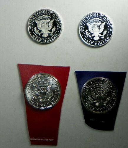 2019 PDS S Proof Silver BU Kennedy 4 Half Dollar Coins