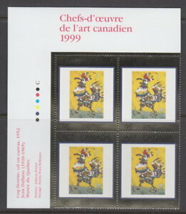 Canada-1800-95-Masterpieces-of-Canadian-Art-12-UL-PLATE-BLOCK-MNH
