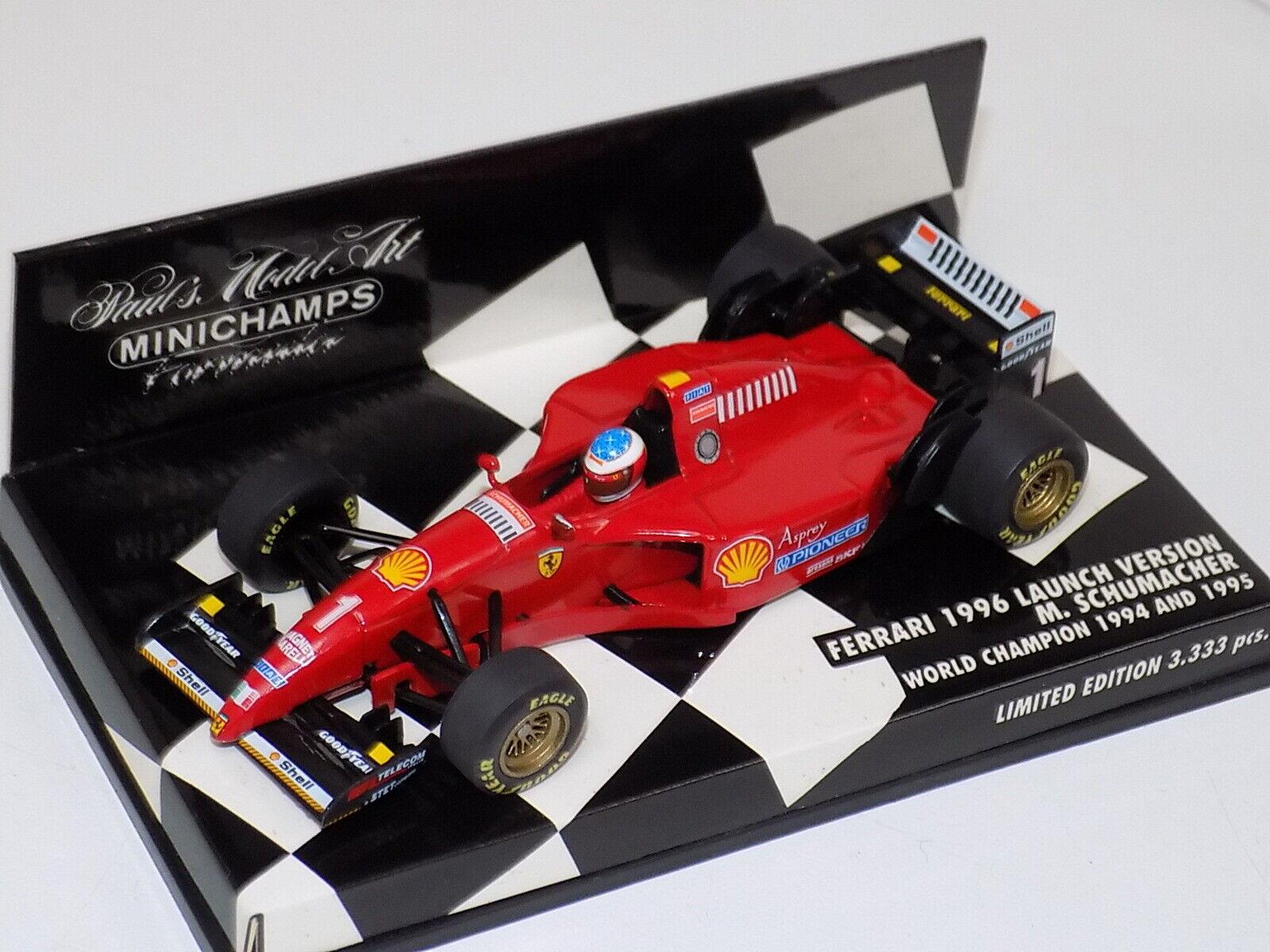 80% di sconto 1 43 Minichamps Ferrari F1 1995 1995 1995 auto - 1996 Launch Minichamps scatola  negozio online