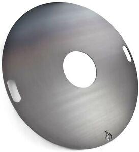 Feuerplatte 100 cm Durchmesser 6 mm stark B - Ware mit Kratzern