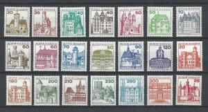 Bund-aus-1977-1982-postfrisch-komplette-Serie-Burgen-und-Schloesser