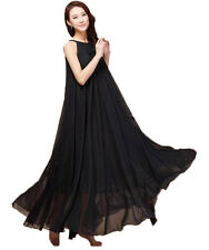 1 Lady Black Long Maxi Formal Summer Beach Evening Party dress Plus Size 22W-24W