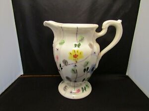 Blue-Ridge-Southern-Pottery-Pitcher-Flowers-Floral