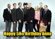 NCIS 11 Leroy Jethro Gibbs DiNozzo Happy Birthday PERSONALISED Art greeting Card