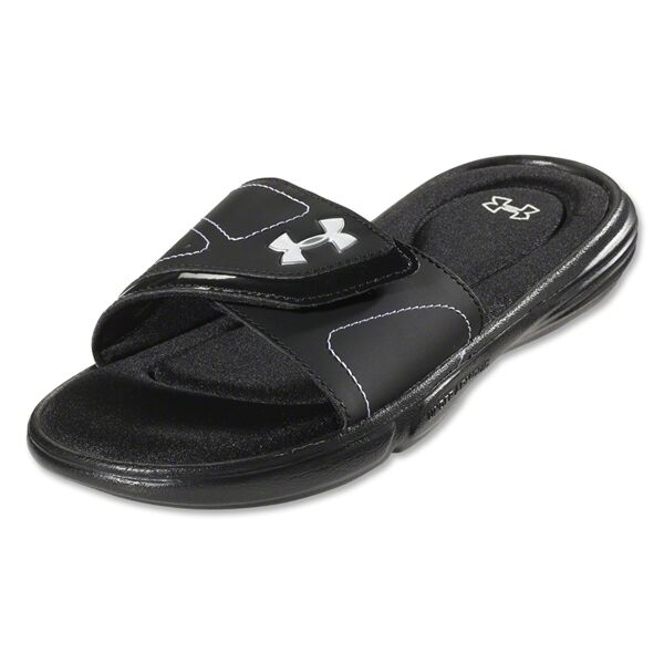 2293fb21d UNDER ARMOUR WOMEN IGNITE VII 4D FOAM PAD SLIDES SANDALS 7 BLACK    NWT  1253450