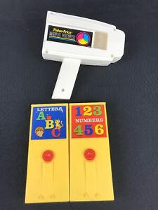 2014-FISHER-PRICE-Vintage-Inspired-Movie-Viewer-2-Cartridges-LETTERS-NUMBERS