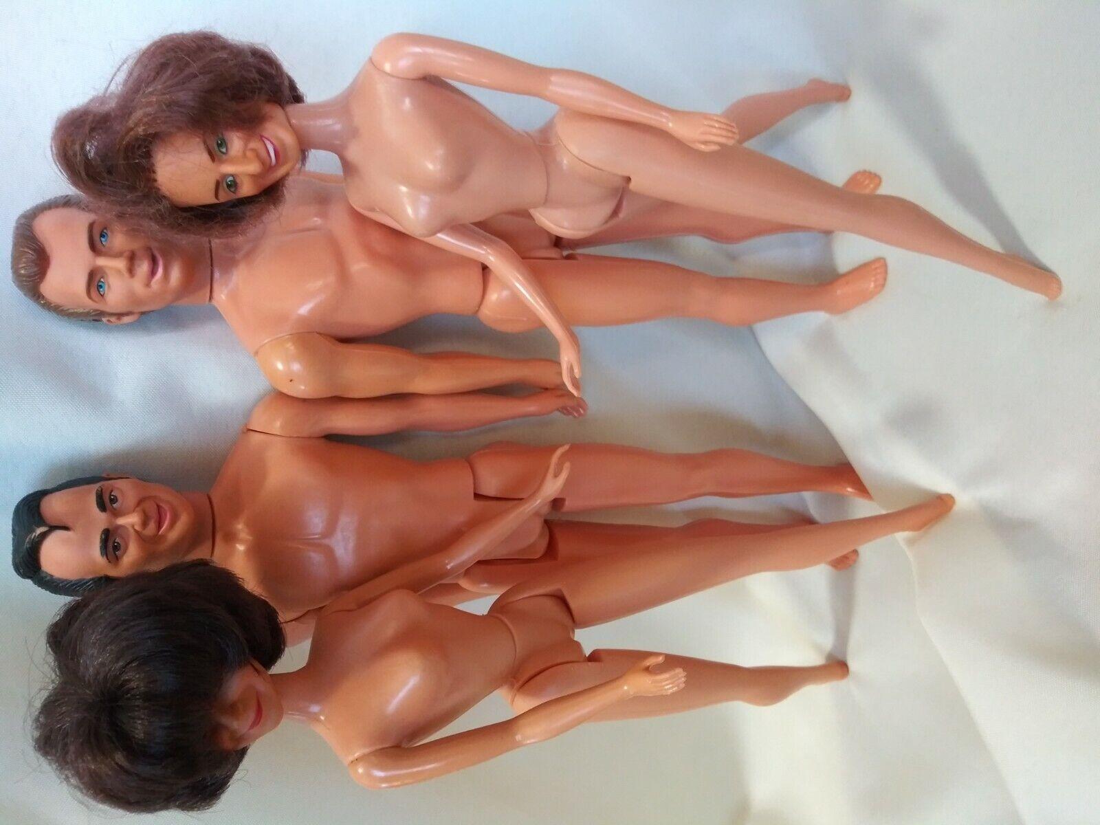 Laverne & Shirley Lenny & Squiggy Figures 1970snude celebrity ken &barbie