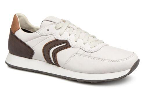 Sneaker Halbschuhe U845vc Geox C Vincit Coffee White Schuhe Respira Dk Herren wqFPg