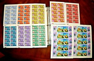 CatalinaStamps: WW Stamps of Blocks & Sheets in Binder, 841 Stamps, Lot D140