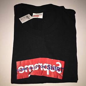 9c233a971240 Supreme x Comme des Garçons Shirt (CDG) Box Logo Tee - Black- Medium ...
