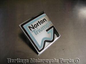 Gomm blue black enamel NORTON TRIUMPH square METAL lapel PIN BADGE last 2!