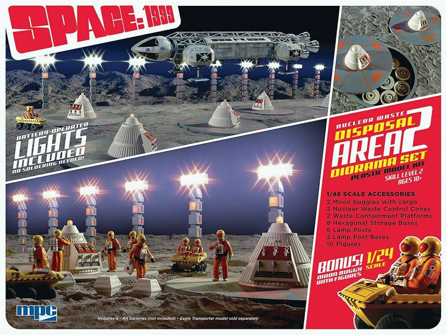 Space 1999 1//48 Nuclear Waste Disposal Area 2 Model Kit /& 1 Canister Sets.