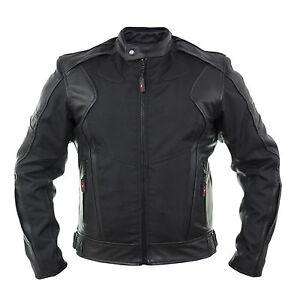 Herren-Textil-leder-BikerJacke-Schwarz-Motorrad-Trendiges-Textiljacke-lederjacke