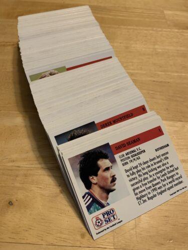 PRO SET OFFICIEL 1991 joueur de football Cartes Jeu complet de 230 cartes RARE