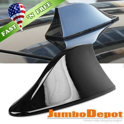US Silver Shark Fin Style Car SUV Roof Mount FM//AM Radio Signal Antenna Aerial