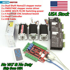 Usa3 Axis Nema23 Stepper Motor 3a425ozin Driver Usbcnc Board Controller Kit