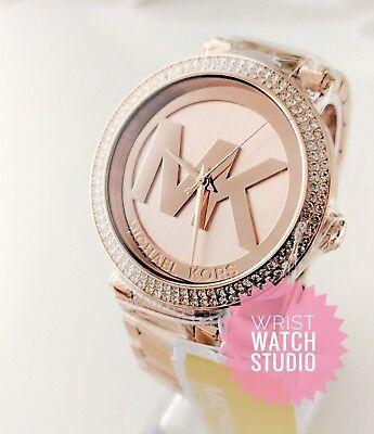 Michael Kors Watch MK5865 Parker Rose Gold Ladies Watch 3 YEAR WARRANTY* | eBay