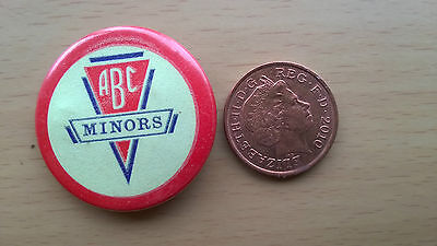 Original ABC Childrens 'Minors' Cinema Club Tin Badge Luminous 1950's/60's