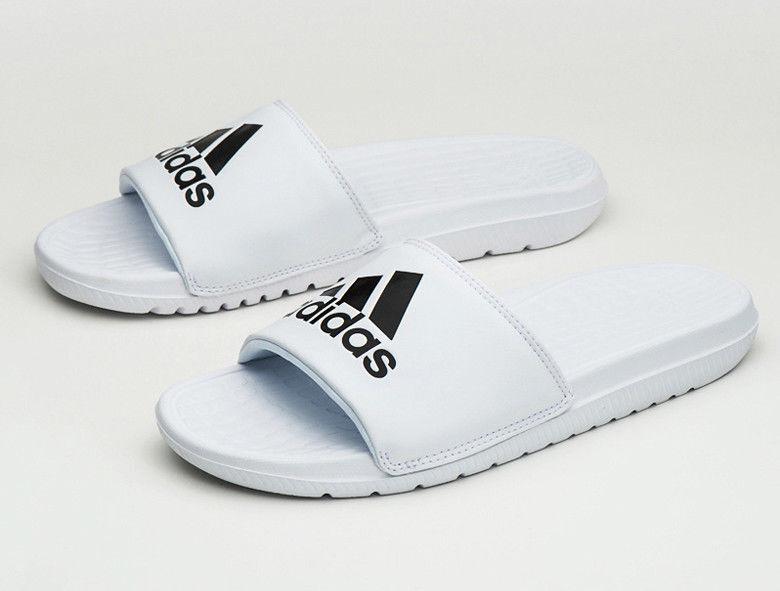 58b7cbb36a0f15 Adidas Voloomix Voloomix Voloomix cp9447 White-Black Mens Slide Free  Shipping 8c8f2e