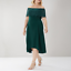 New-Ex-Coast-Oriel-Lace-Bardot-Dress-Forest-Green-Chic-Was-119-Now-29-Save-90 thumbnail 9