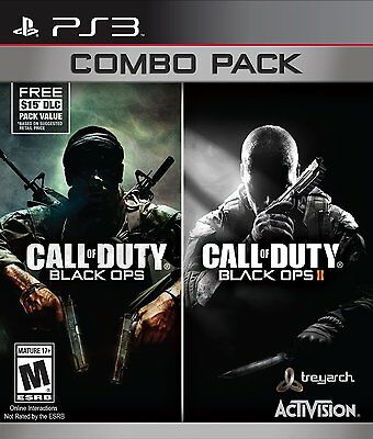 Call Of Duty: Black Ops 1 & 2 Combo Pack (Playstation 3 PS3, Video Game) New