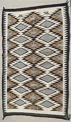 "Navajo rug weaving nice fine weave vintage apprx. 26"" x 43"" Serrated diamond"