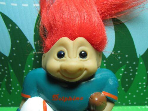 "NEW Rare MIAMI DOLPHINS NFL GOOD LUCK SPORTS TROLL 4/"" Ace Treasure Troll"
