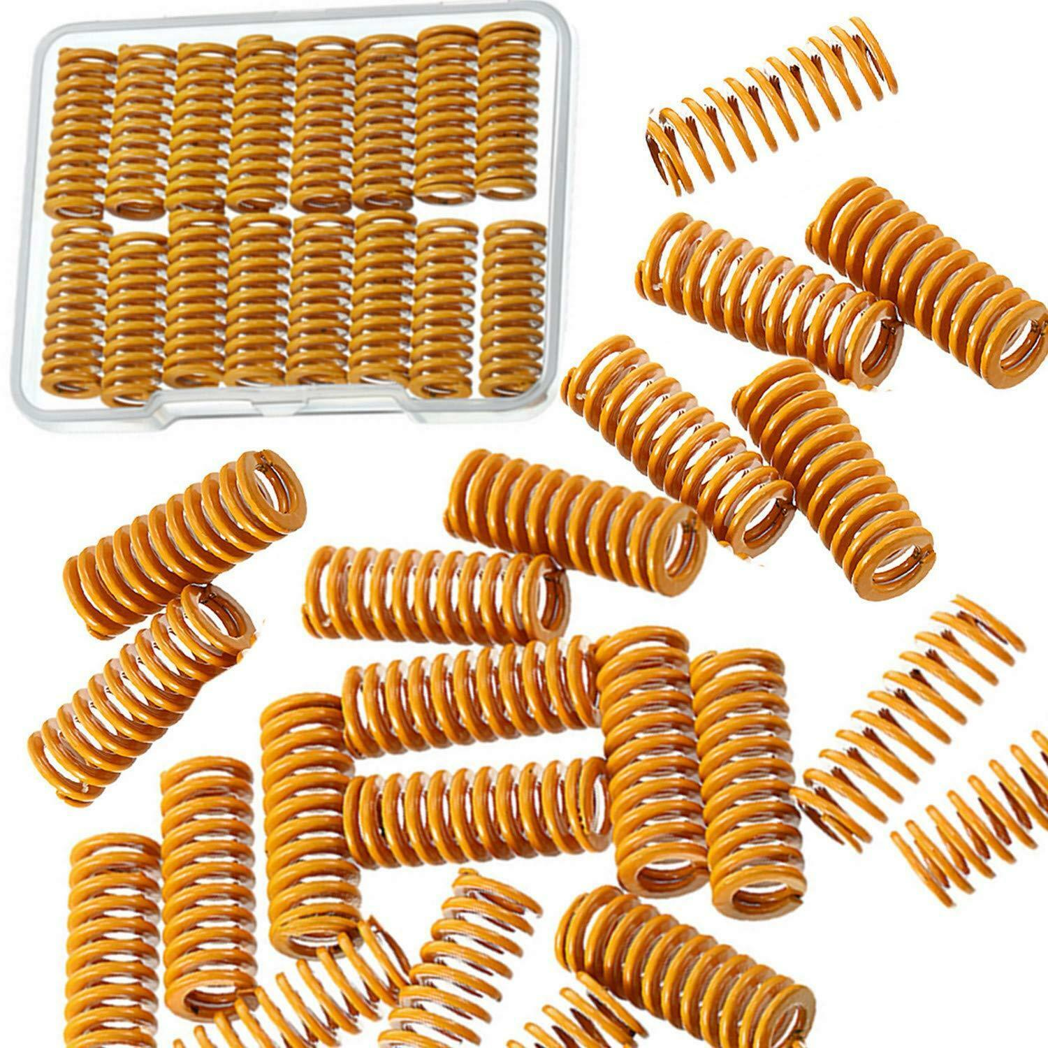 20Pieces Yellow Heating Bed Spring Die Head Spring 3D Printer Compression Spring