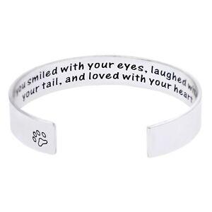Melix Pet Loss / Pet Memorial Gift Bracelet Grey NEW