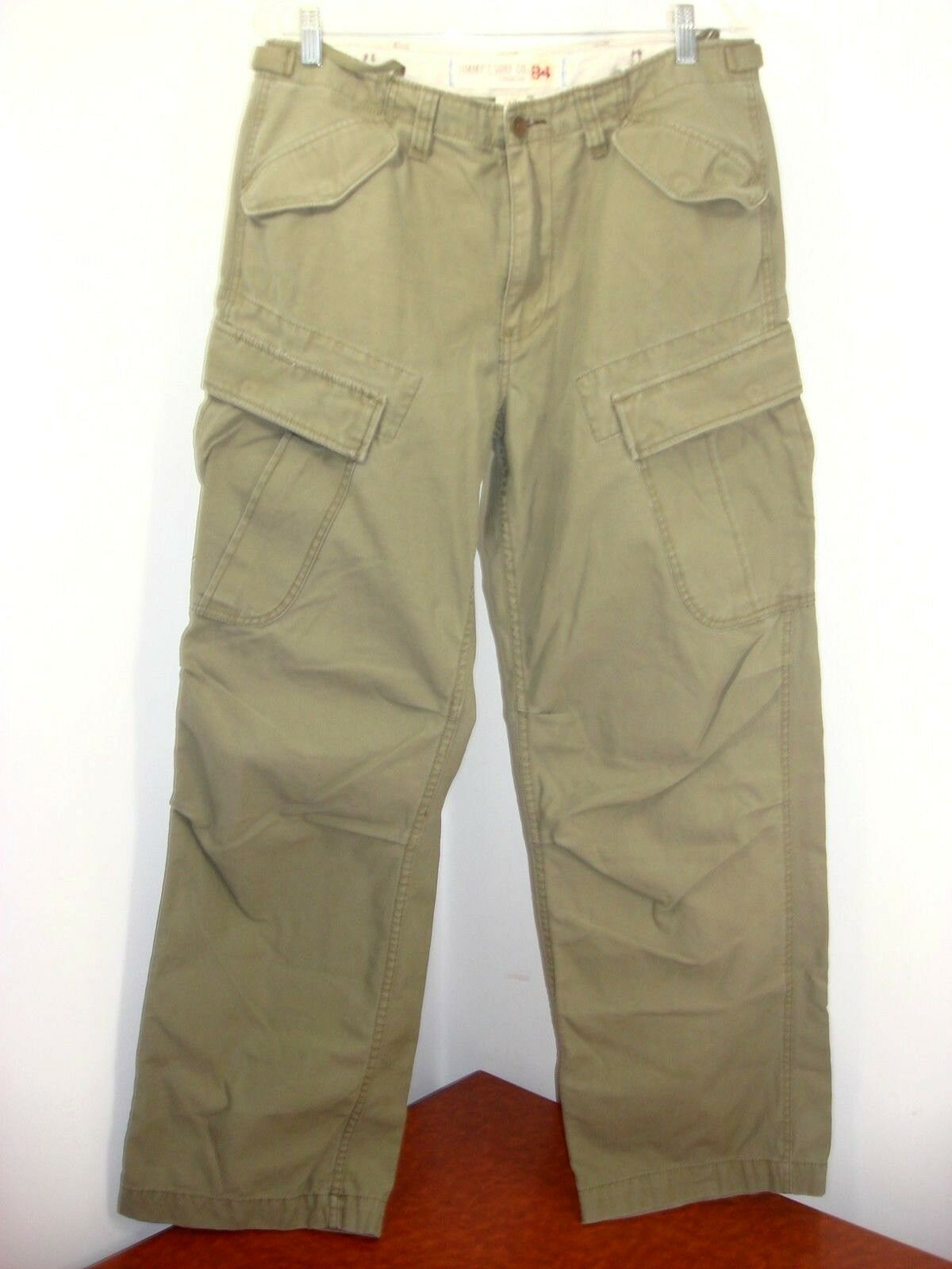 Jimmy'z Surf Co. 84 Standard Issue Cotton Cargo Pants Tag 32 R Measures 34 x 32