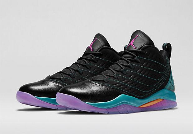 NIB Homme NIKE AIR JORDAN VELOCITY Noir Violet SOUTH BEACH BASKETBALL Chaussures - 10