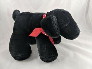 Black-Dog-Plush-Puppy-7-034-Commonwealth-2006-Stuffed-Animal