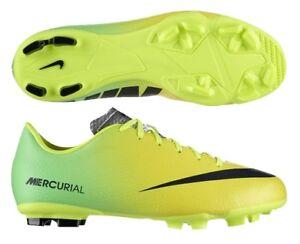 Dettagli su Scarpe Calcetto Uomo Nike Mercurial Victory IV TF 555615 703 GialloVerde Nuovo