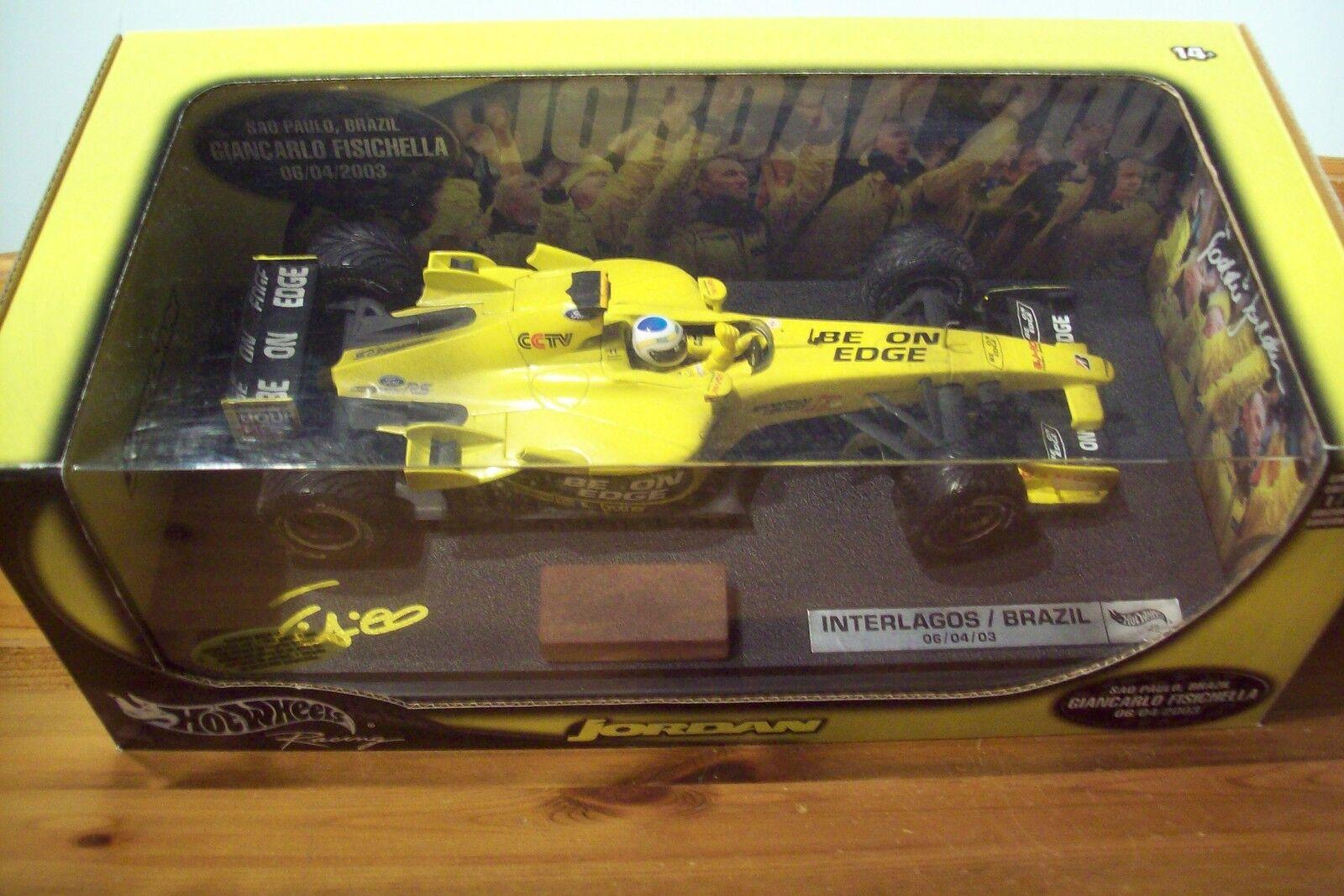 1 18 Mattel JORDAN FORD EJ13 Giancarlo FISICHELLA 2003 1st Win Brazil GP