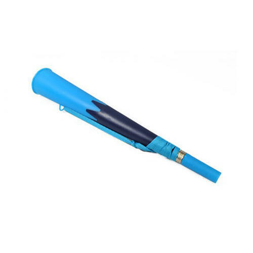 Navy & Sky Blue Supporters Air Blow Horn Vuvuzela Noisy Novelty Trumpet & Strap
